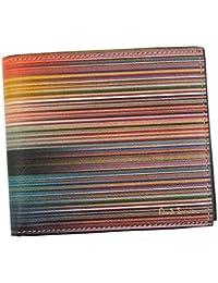 ポールスミス 財布 二つ折り財布 PAUL SMITH MULTITO ARTIST STRIP M1A4833 BIFOLD 96 MULTI TO ARTIST A40025 100% LEATHER 並行輸入品