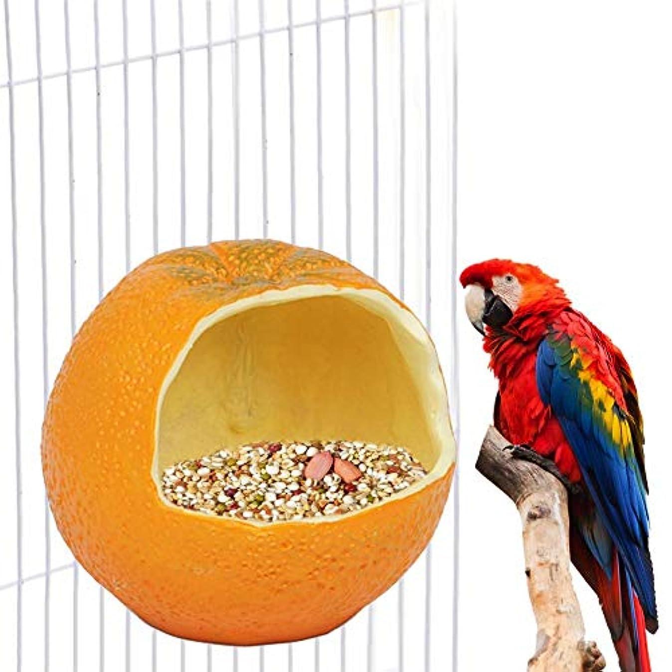 ルネッサンス定期的終点Per Pet バードフィーダー オレンジ 可愛い 野鳥の餌台 鳥餌箱 自動給餌器 鳥用 エサ入れ 餌やり 取り付け簡単 餌入れ箱 インコ オウム 文鳥 鳥かご汎用