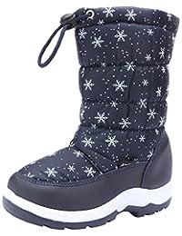 [snofiy] スノーブーツ 女の子 ブーツ キッズ ジュニア 子供靴 可愛い 雪靴 ボア 保温 防水 スキー 雪遊び 冬用靴 滑り止め 暖かい 雨の日 雪の日 通学 アウトドア