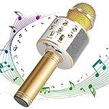 ANBURT カラオケマイク ポータブルスピーカー 多機能 マイク 音楽再生 ノイズキャンセリング 家庭 無線マイク カラオケ Android/iPhoneに対応 (カラー2)