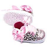 ANB- Baby Girls Shoes Floral Leopard Sequin Infant Soft Sole First Walker Cotton Shoes ( Size3 (13) )