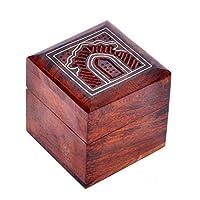 Hashcartインドの職人、手作り&手作りの木製ジュエリーボックス/ジュエリー収納オーガナイザー/装身具ジュエリーボックス(伝統的なデザインと真鍮のインレイ作品)
