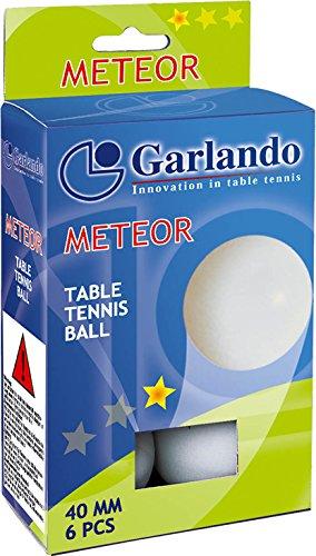 Garlando Meteorテーブルテニスボール、ホワイト40mm規定サイズ、1スター定格、6パック