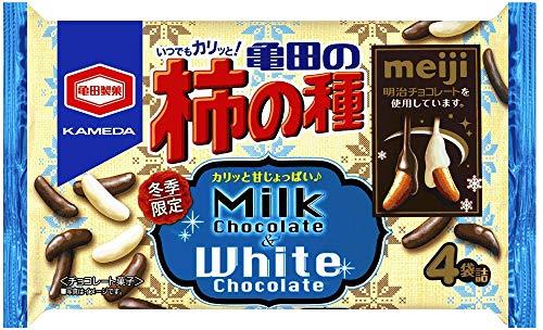 亀田の柿の種(ミルクチョコ&ホワイトチョコ)の通販の画像