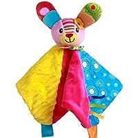 Showking キュートな掛け布団 おもちゃの掛け布団 幼児用 柔らかなアップリズタオル プラッシュ かわいいウサギのおもちゃ リングペーパー付き ピンク