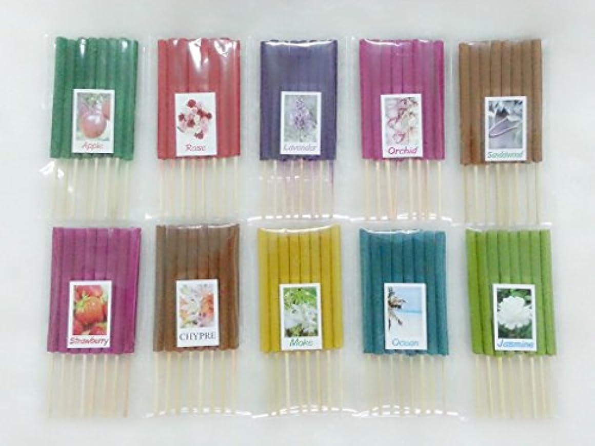 せがむ優先建築設定8 Mixアロマ10 Scents 80 Sticks Mini Incense Sticks Thai Spaアロマセラピーホームのハーブ&香料、長さ3インチ
