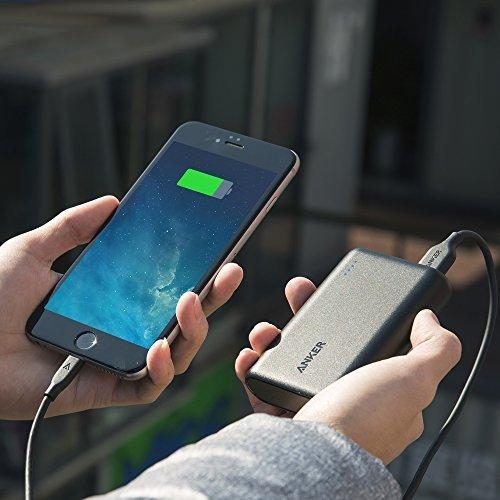 Anker PowerCore 10000 (10000mAh 最小最軽量 大容量 モバイルバッテリー) iPhone&Android対応 *2016年8月末時点 A1263011