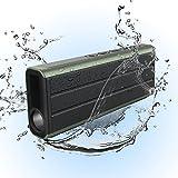 防水Bluetoothスピーカー【IPX5防水/10W出力/10時間連続再生/LED懐中電灯搭載/内蔵マイク搭載】グリーン