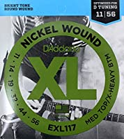 D'Addario EXL117 Medium top X-Heavy Bottom ×10SET