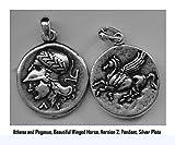 Greek Mythology、Percy Jacksonネックレス、アテナ&ペガサス、Annabeth 's Greek Goddess母、コインペンダント、43pend-s、Great Holidayギフト