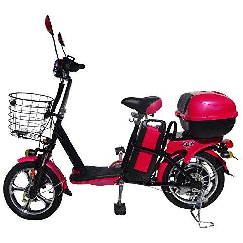 バイクル P3 ペダル付き 電動バイク 電動スクーター 電気 電気自転車 電気スクーター モーターサイクル モーターバイク 原付 原チャリ 電動自転車 電動アシスト自転車 EV P3S チェリーピンク -