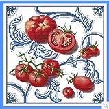 【アップフェル】 クロス ステッチ キット 【 とまと J148】 Tomato 刺繍 キット 47cm*47cm 手芸 刺繍 食べ物 静物 通販