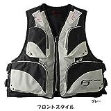 FINE JAPAN(ファインジャパン) 大人用フローティングベスト(笛付き) FV-6110 グレー フリー