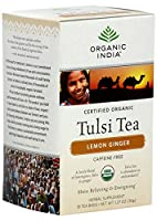 海外直送品Organic India Organic Tulasi Tea Lemon Ginger, Lemon Ginger 18 ct (Pack of 4)