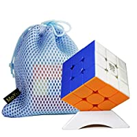 MoYu Weilong WRM WR M 3x3 MoYu Culture welong wr mスピードキューブマジックキューブスムーズファストツイストパズルキューブ+ 1つのキューブバッグと1つのスタンド (Stickerless 彩)
