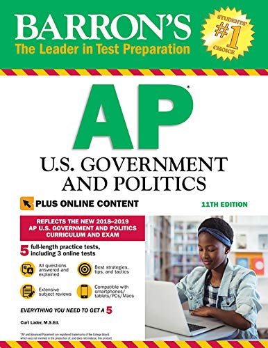 Download Barron's AP U.S. Government and Politics with Online Tests (Barron's Test Prep) 1438011687