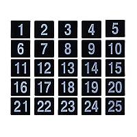 UPKOCH 25ピースプラスチック番号カードテーブル番号カード結婚式プラスチックテーブル番号用クリスマスレセプションケータリング年間ディナーパーティーセンターピース装飾