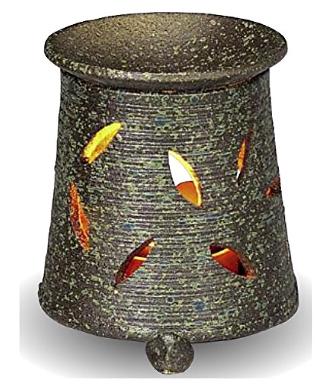 かる便利さグリット常滑焼 茶香炉(アロマポット)径9.5×高さ10.5cm