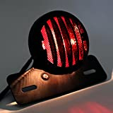 nakira バイク テールランプ 丸型 ナンバーステー付き マグナ シャドウ SR TW200 CRF250M FTR nkr768 ブラック 画像