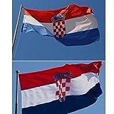 【ノーブランド 品】国旗 国 クロアチア バナー 飾り 90*150cm
