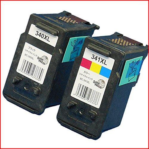 Canon(キヤノン)対応のリサイクルインクカートリッジ BC-340XL BC-341XL お得な2個セット【残量表示機能付】【メール便不可】(関連商品 BC-340XL BC-341XL BC-340 BC-341)