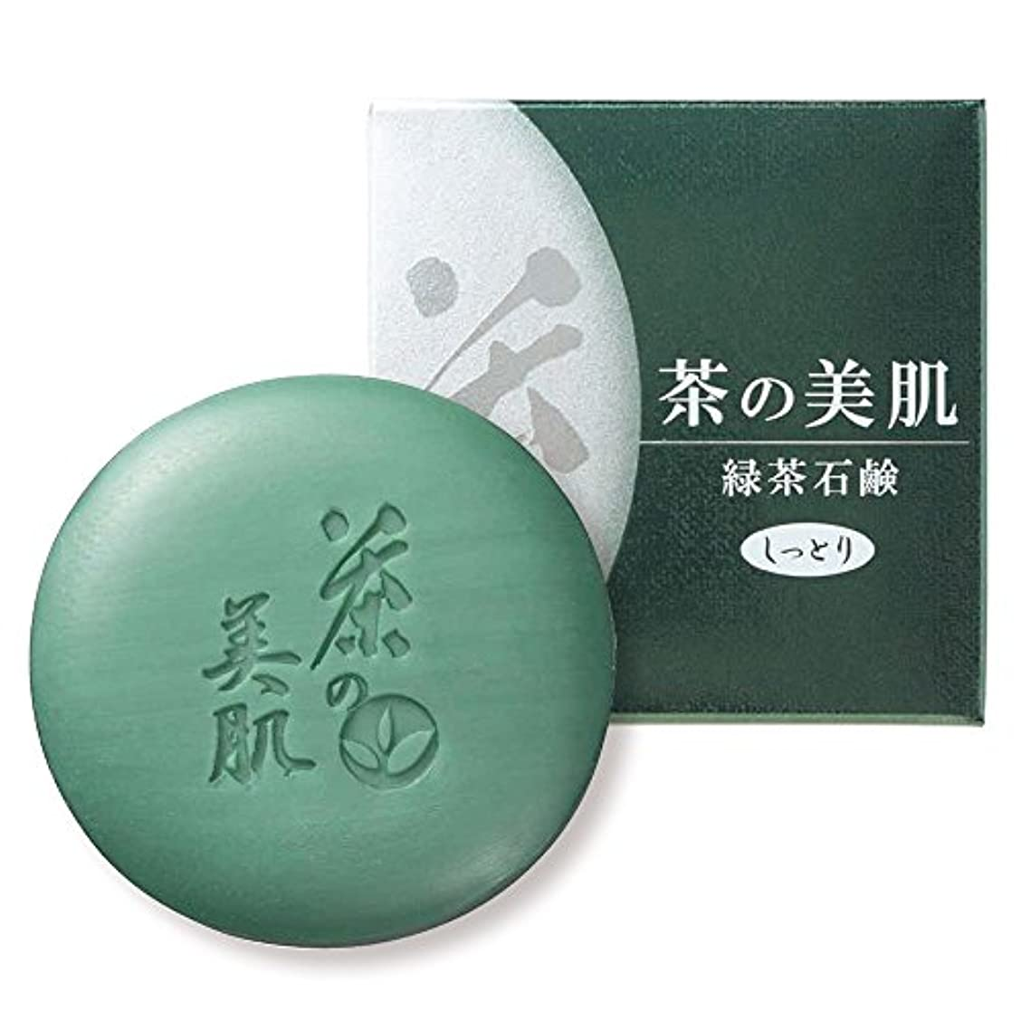 パズルパテ病弱お茶村 洗顔 茶の美肌 緑茶 石鹸 65g