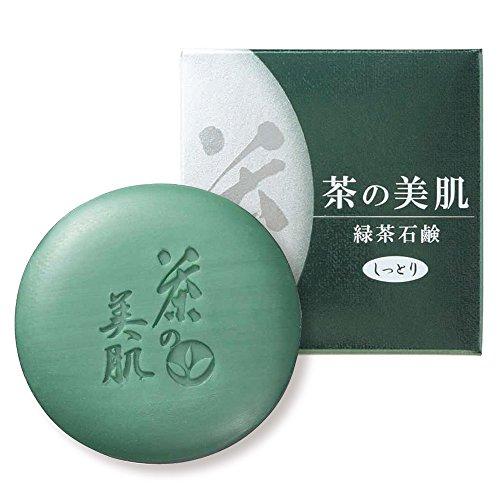 お茶村 洗顔 茶の美肌 緑茶 石鹸 65g
