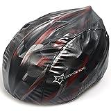 ROCKBROS(ロックブロス) 防風防塵 自転車ヘルメットカバー マウンテンロードバイク サイクリングヘルメットレインカバー 全5色 (ブラック)