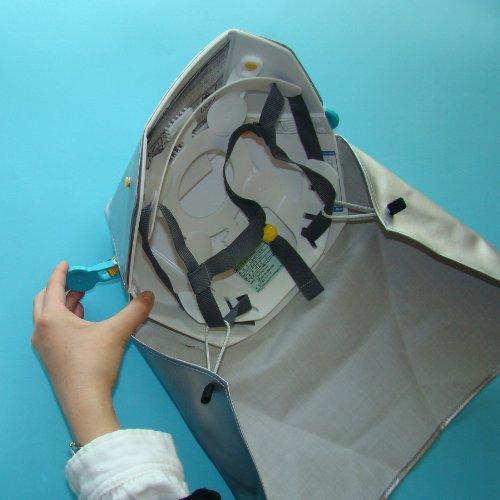 タタメットズキン、コンパクトに収納、いつでも身近に折り畳み式ヘルメット型防災ずきん!国産検定認定品☆ストラップ付きホイッスル付いてくる!