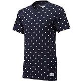 adidas オリジナルスTシャツ ドット総柄黒S[TANGO TEE]