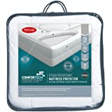Tontine Comfortech Stain Resistant Mattress Protector, King, White