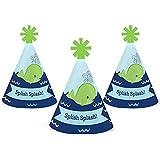 Tale of a Whale – Mini円錐ベビーシャワーまたは誕生日パーティー帽子 – スモールLittle Party Hats – 10のセット