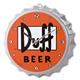 THE SIMPSONS WALL CLOCK DUFF LOGO