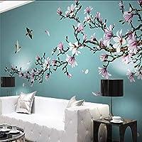 Xueshao マグノリア手描きのメビの花鳥新中国の壁装飾画大壁画壁紙壁画-150X120Cm
