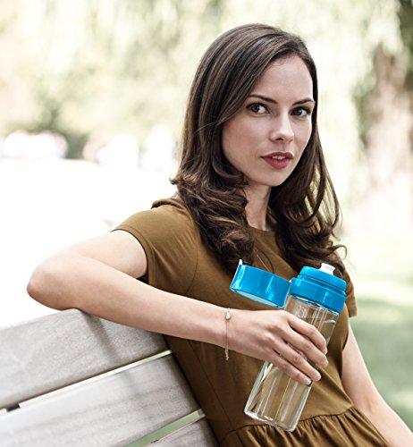 BRITA ブリタ 水筒 直飲み 600ml 携帯用 浄水器 ボトル カートリッジ 1個付き フィル&ゴー ブルー 【日本仕様・日本正規品】 fill & go BRITA(ブリタ)