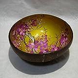 ベトナム雑貨 漆器 椀ココナッツの実 丸型 139模様 [並行輸入品]