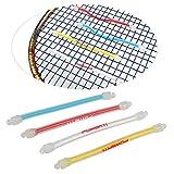 Setokaya スカッシュ テニスラケット用 ー 振動吸収 振動止め 4色セット WQBZ-01-105