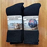 6 PAIRS 11-14 HEAVY DUTY AUSTRALIAN MERINO EXTRA THICK WOOL WORK SOCKS