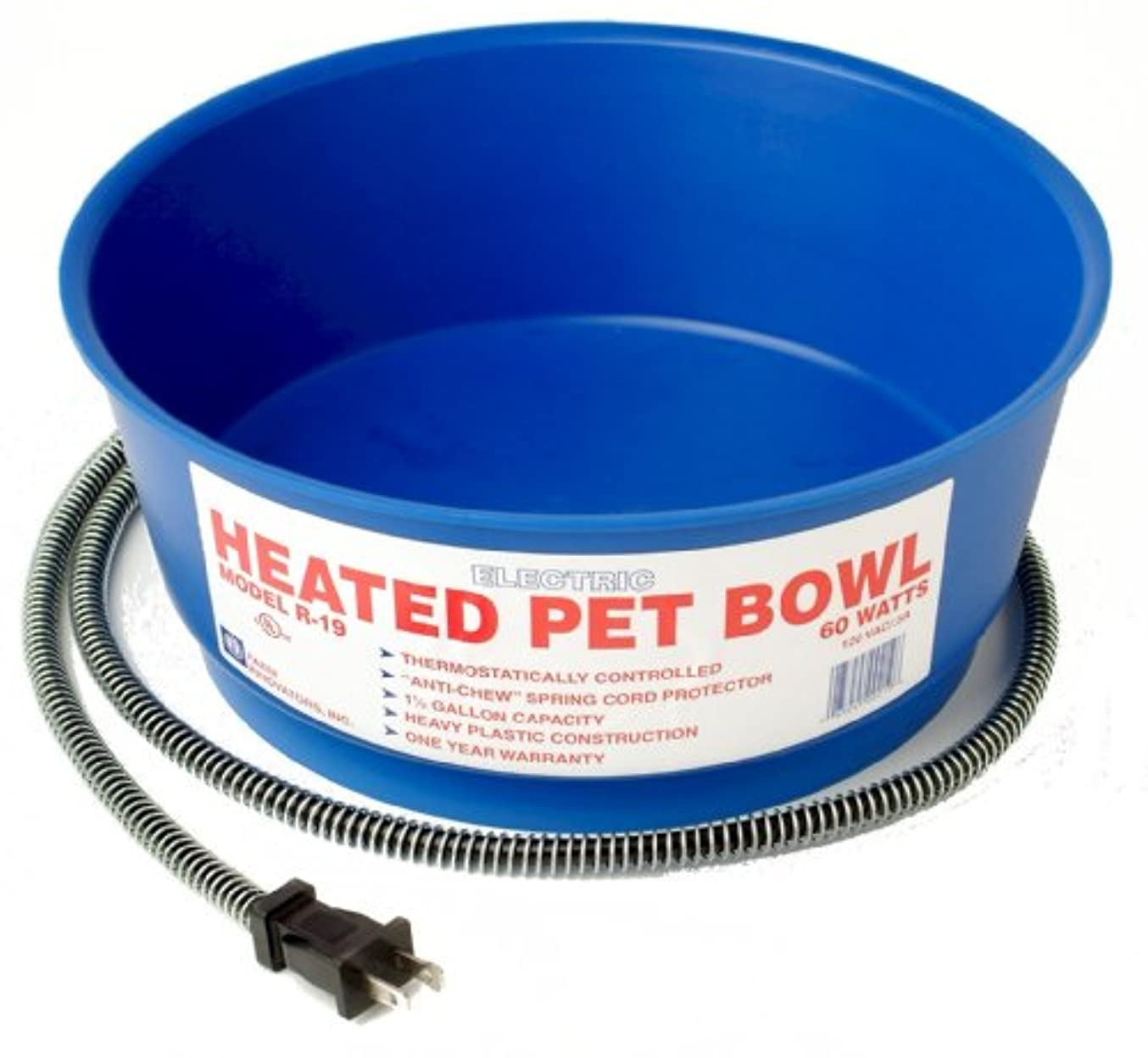 Farm Innovators 1-.50 Gallon Round Heated Pet Bowl R-19