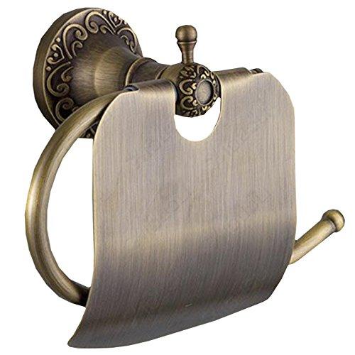 ライジング・サン トイレットペーパー ホルダー ブロンズ 真鍮 製 取付簡単 アンティーク調