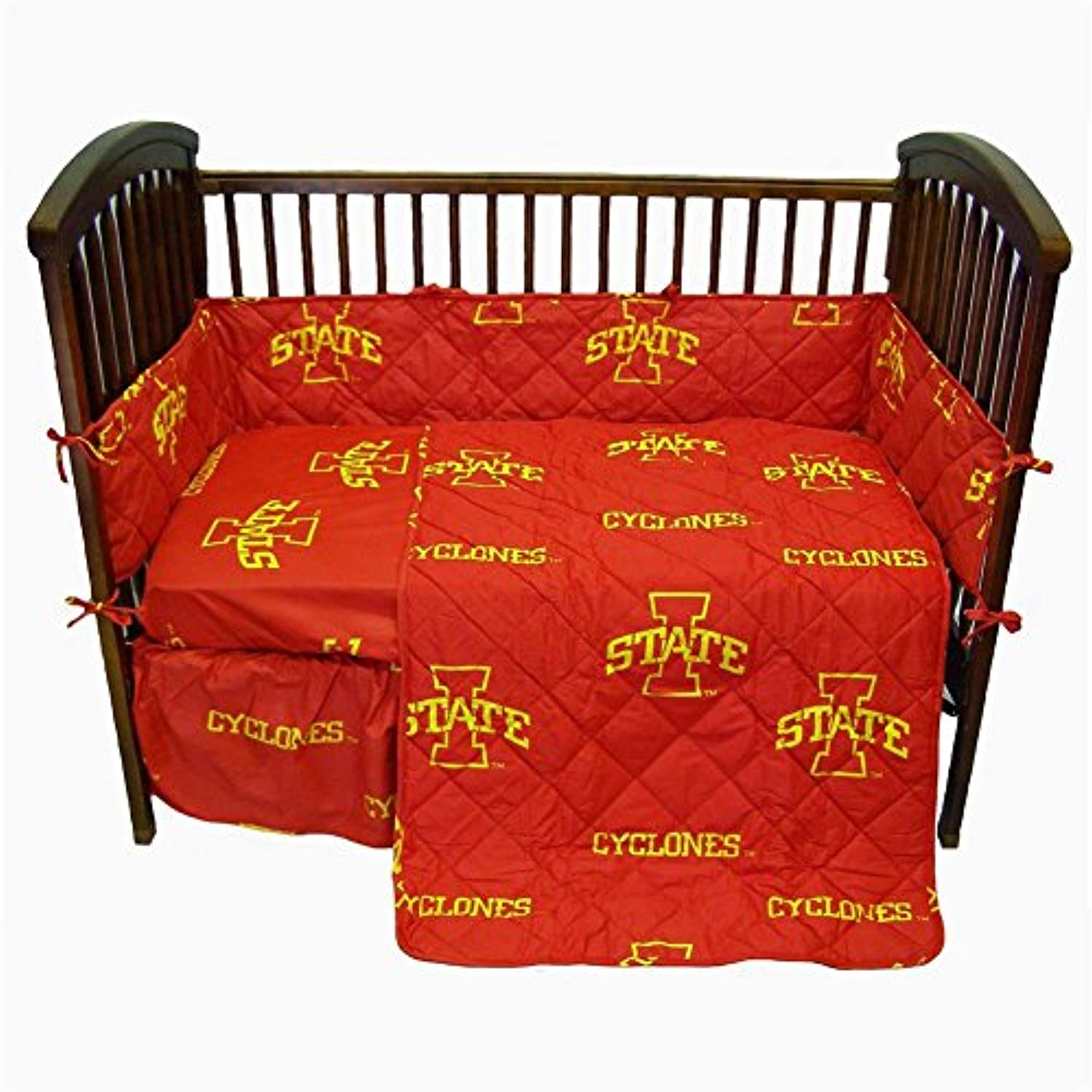 Iowa State 5 Pc Baby Crib Logo Bedding Set by College Covers