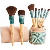 amoore 8本 化粧筆 メイクブラシセット 化粧ブラシ セット コスメ ブラシ 収納ケース付き