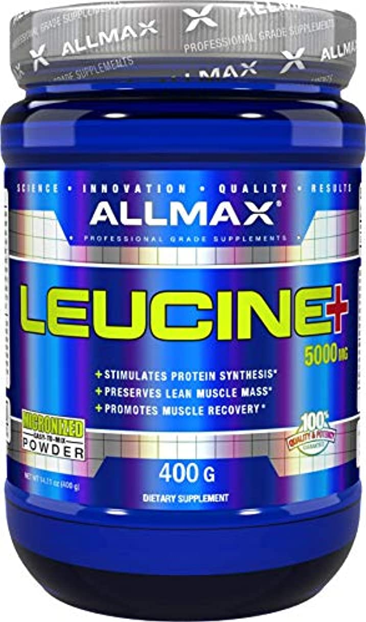 準備ができて虐殺方向Allmax Nutrition オールマックス ニュートリション ロイシン 400g