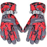EGOGO Warm Ski Waterproof Windproof Snow Gloveswith Wrist Leashes Thinsulate Insulated Lined For Men and Women E606-1