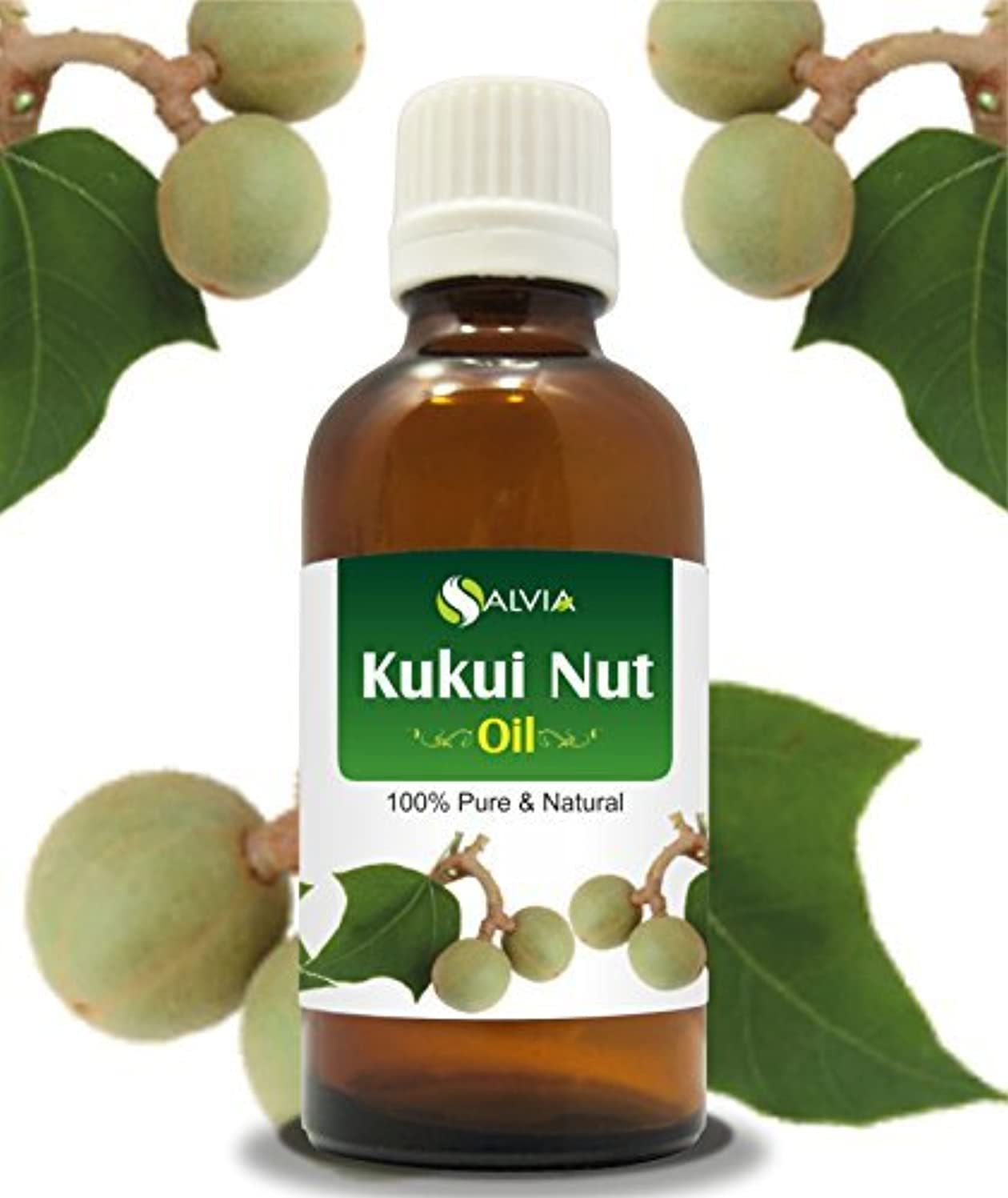 組み合わせ研磨剤それに応じてKUKUI NUT OIL 100% NATURAL PURE UNDILUTED UNCUT CARRIER OILS 15ml by SALVIA