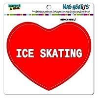I 愛ハート - スポーツの - アイススケート - MAG-NEATO'S(TM) ビニールマグネット