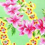 キャシー中島のハワイアンプリント生地  レイラニ・HOU(ホウ) 花びら一部ラメ入り (20085-60) ※価格は、10cmの価格。ご注文は、50cmから10cm単位で承ります。 Kathy Mom ルシアン LECIEN アイランドスタイル 布・生地