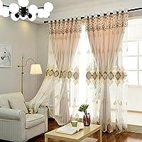 カーテン窓カーテンシェードクロスガーゼベッドルームシェーディングクロスプリーツブラインドブラックアウトカーテン、リビングルームバルコニー寝室装飾窓 (色 : A3, サイズ さいず : 1*W4*H2.7M)