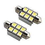 フォルクスワーゲン 9N系 ポロGTI 抵抗付 LED ライセンス ランプ ナンバー 警告灯キャンセラー付 T10×36mm 2個セット 37mm兼用 ルームランプ 室内灯 等にも HJO