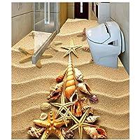 山笑の美 壁紙の床カスタム写真の床壁紙カスタム写真自己接着3D床ホームデコレーション壁画-150X130cm
